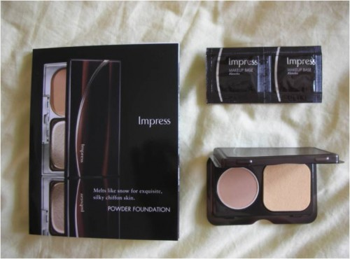 ขาย Tester แป้ง Kanebo Impress Powder Foundation สี OC-C + Makeup base spf15 รูปที่ 1