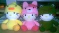 ตุ๊กตาคิตตี้และตุ๊กตาถักไหมพรมสไตล์ญี่ปุ่นหลากหลายแบบ มีทั้งตัวเล็กแระตัวใหญ่นะคะ  มีชุดและหมวกของน้อง Blythe ราคาไม่แพง
