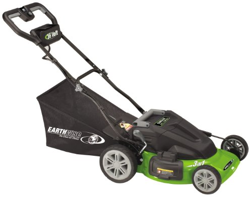 Earthwise 60236 20-Inch 36 Volt Side Discharge/Mulching/Bagging Cordless Electric Lawn Mower รูปที่ 1
