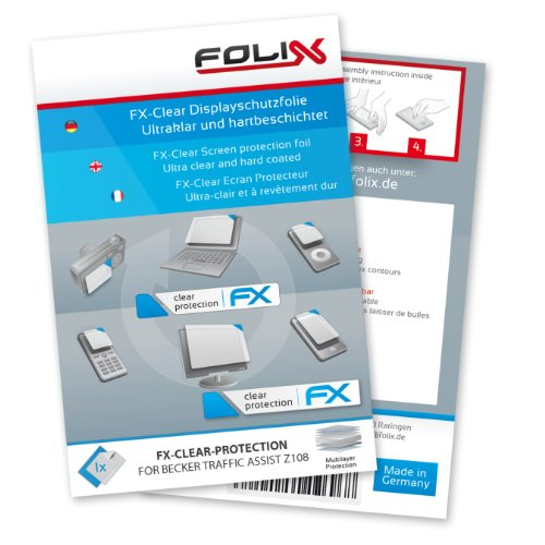 FoliX FX-CLEAR Invisible screen protector for Becker Traffic Assist Z 108 / Z108 - Ultra clear screen protection! รูปที่ 1