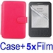 รูปย่อ Neewer RED Protective Leather Case Cover For Kindle 3 eBook E-Reader + 5X Screen Protector (Kindle E book reader) รูปที่1
