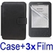 รูปย่อ Neewer Black Protective Leather Case Cover For Amazon Kindle 3 eBook E-Reader + 3x SCREEN PROTECTOR (Kindle E book reader) รูปที่1