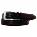 Johnston & Murphy Men's Diagonal Scored Belt (leather belt )