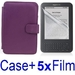 รูปย่อ Neewer PURPLE Protective Leather Case Cover For Kindle 3 eBook E-Reader + 5x SCREEN PROTECTOR (Kindle E book reader) รูปที่1