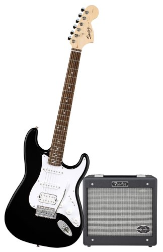 Squier by Fender Stop Dreaming-Start Playing Set: Affinity Strat HSS w/ G, DEC Jr, Black ( Squier by Fender guitar Kits ) ) รูปที่ 1