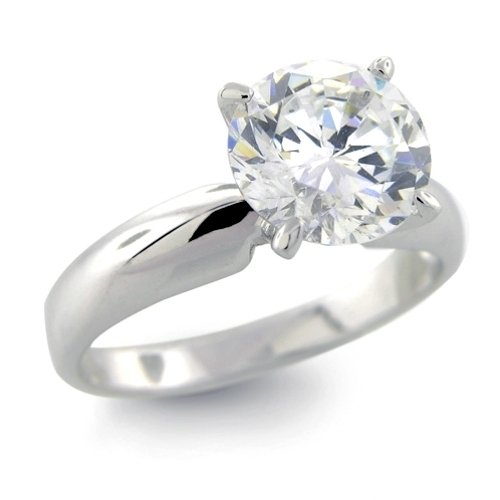 Bling Jewelry Sterling Silver Classic 3ct Round Solitaire CZ 4-Prong Engagement Ring ( Bling Jewelry ring ) รูปที่ 1