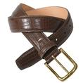 Tommy Hilfiger Mens Genuine Leather Croc Print Belt (leather belt )