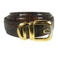 Men's Brown and Black Python Snakeskin Belt