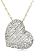 14k White, Yellow, or Rose Gold Diamond Pave Heart Pendant (5/8 cttw, I-J Color, I2-I3 Clarity) ( Amazon.com Collection pendant )
