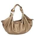 Trendy Tia Woven Hobo/Handbag - Bronze/Pewter Gold ( Nvie Designs Hobo bag  )