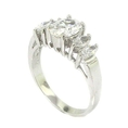 Classic 5-Stone Engagement Ring w/Brilliant White CZs ( Alljoy ring )
