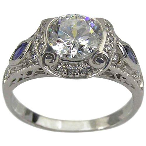 Antique Diamond Sapphire Ring ( Da'Carli ring ) รูปที่ 1