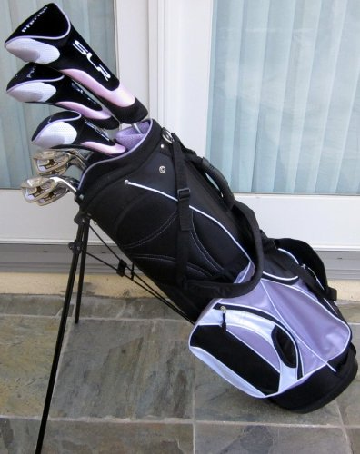 Ladies Complete Professional Golf Set Womens Right Handed Graphite Shafted Clubs & Bag Lavender Color ( Precise Golf ) รูปที่ 1