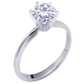 Stunning! Women's 14k White-gold 6.50mm (1 CT) Moissanite Solitaire Engagement Ring by Vicky K Designs ( Vicky K ring )