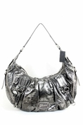 Guess Eye Catching Pewter Hobo Handbag Ladies Polyester Handbags ( GUESS Hobo bag  )