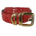 Men's Candy Apple Red Crocodile Embossed Belt