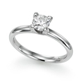 Round Diamond Solitaire Ring in 10K White Gold or Yellow Gold ( DivaDiamonds ring )