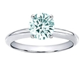 1.25 cttw 14k Gold 7mm Round Genuine Aquamarine Solitaire Engagement Ring - 14kt White or Yellow Gold ( Finejewelers ring )