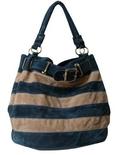 Suede Feel Striped Hobo/Handbag - 4 cool colors available ( Nvie Designs Hobo bag  )