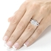 รูปย่อ 1 Carat Princess & Round Diamond Engagement Ring in 14kt White Gold ( Diamond-Me ring ) รูปที่4