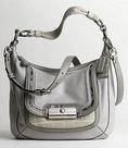 Authentic Coach Grey Leather Spectacular Kristin Hobo Handbag 16803 ( COACH Hobo bag  )