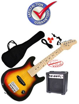 Kids 30 Inches Electric Guitar Package 1/4 Size Sunburst ST01-SB ( Fever guitar Kits ) ) รูปที่ 1