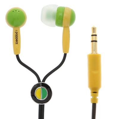 iPopperz IP-CLZ-4001 Ear Bud (Green/Yellow/Black) ( Victory Ear Bud Headphone ) รูปที่ 1