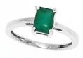 1.00ct Emerald Cut Emerald Ring in 14Kt White Gold ( MyTreasurez ring )