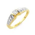1/2 Carat Round-Cut Diamond Engagement Ring in 10K Yellow Gold Size-7 ( Netaya ring )