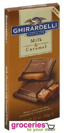Ghirardelli Chocolate Bar, Milk Chocolate with Caramel, 3.5 oz (Pack of 6) ( Groceries To Your Door Chocolate ) รูปที่ 1