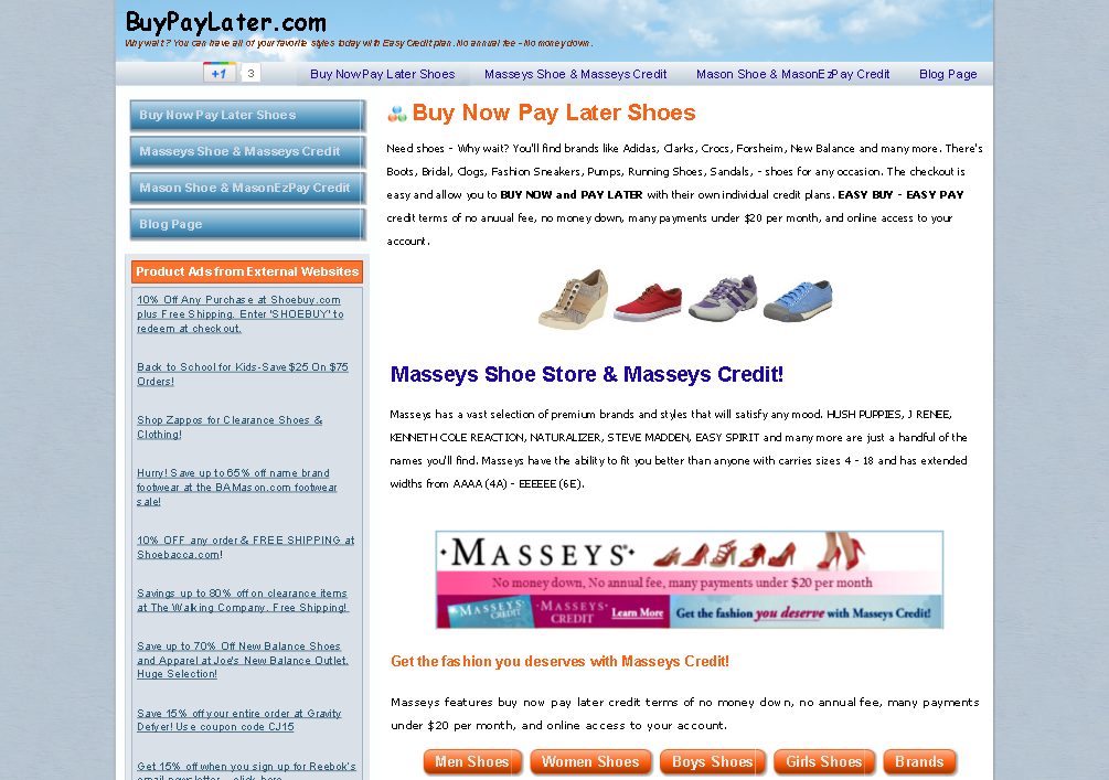buy now pay later shoes - no annual fee,no money down. รูปที่ 1