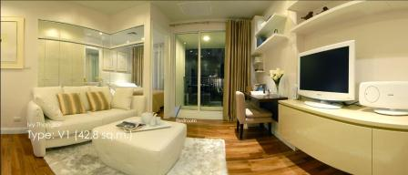 Ivy Thonglor: 1 BR + 1 Bath, 43 Sq.m, 8th fl for Rent รูปที่ 1