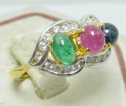 เพชรมรกต: [มือสอง] แหวน ทับทิม ไพลิน มรกต ฝังเพชร แหวนเพชรหลุดจำนำน