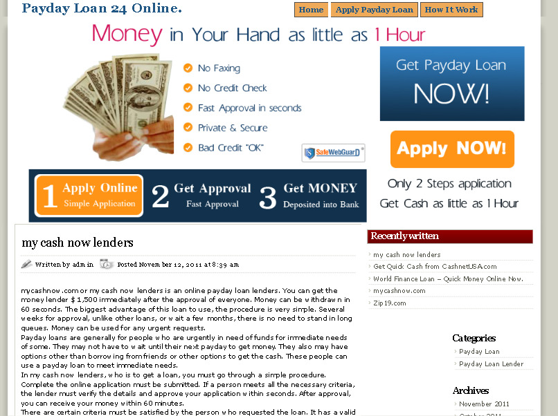 payday loan online 24 hour, no faxing required, no credit check. รูปที่ 1
