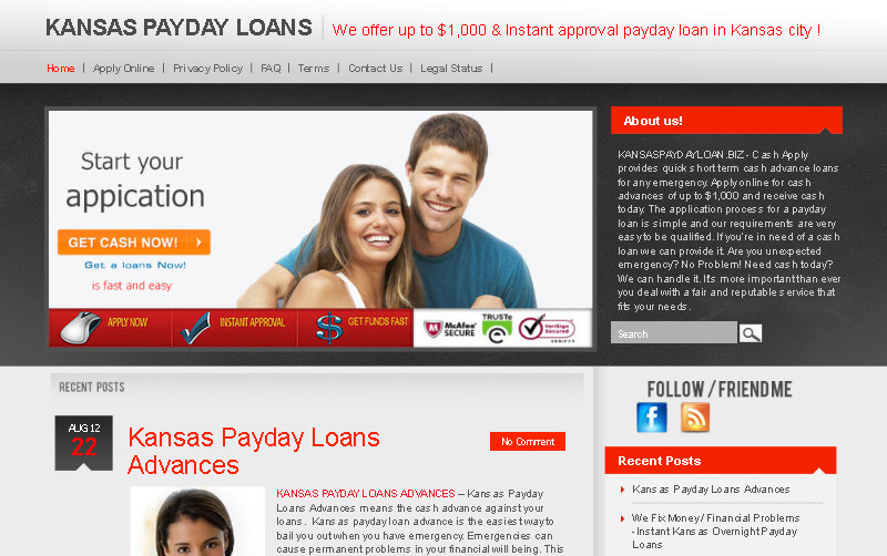 Payday loans / Cash advance in Kansas City - We offer up to $1,000 & Instant approval payday loans  รูปที่ 1