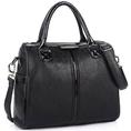 MG Collection ASTRID Black Statement Satchel Office Handbag w/ Shoulder Strap