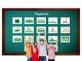 บัตรคำศัพท์ประกอบภาพ สนามเด็กเล่น Playground Flashcards