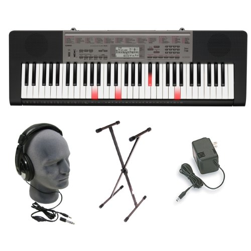 Casio LK165 Lighted Key Premium Keyboard Pack with Headphones, Power Supply, and Stand รูปที่ 1