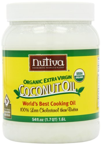 Nutiva Organic Extra Virgin Coconut Oil, 54-Ounce Containers (Pack of 2) ( Coconut oil Nutiva ) รูปที่ 1