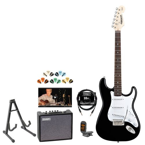 Fender Electric Starcaster Guitar Kit with Amp, Strap, Stand, Strings, Tuner, Cable and Pick Sampler ( Fender guitar Kits ) ) รูปที่ 1