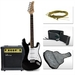 รูปย่อ Full Size Black Electric Guitar with Amp, Case and Accessories Pack Beginner Starter Package ( Sky Enterprise USA guitar Kits ) ) รูปที่1