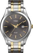 Timex Men's T2N799 Elevated Classics Dress Charcoal Dial Two-Tone Bracelet Watch