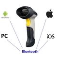 UPGRADED 2 in 1 1d Laser USB 2.0 wired + Wireles Bluetooth Barcode Scanner for iPhone iPad Android Tablet PC, Bluetooth adapter(a gift for PC user), Power adapter and USB cable included, support Mac OS-X 10.8.4, Linux, Android und IOS 7 Grey ( TIMI Barcode Scanner )