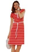 Euro Design Ladies Casual Cotton Summer Beach Cover-up Sun Dress ( EuroBrand Casual Dress )