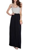 Azules Women's Rayon Span Two Tone Long Dress ( 82 Days Casual Dress )