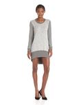 Wilt Women's Long Sleeve Hi Lo Mixed Sweatshirt Dress ( Wilt Casual Dress )