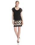 AGB Women's Short Sleeve Blouson Sequined Dress ( AGB Night Out dress )