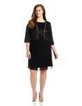 AGB Women's Plus-Size Sequin Jacket Dress ( AGB Night Out dress )