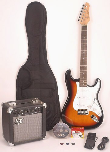 Electric Guitar Package - Includes Guitar, Amp, Strap and Instructional DVD SX RST 3TS w/GA1065 ( SX guitar Kits ) ) รูปที่ 1