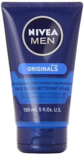 Nivea for Men Face Wash Cleans and Moisturizing with Menthol and Vitamin E, 5 Ounce Tube ( Cleansers  ) รูปที่ 1